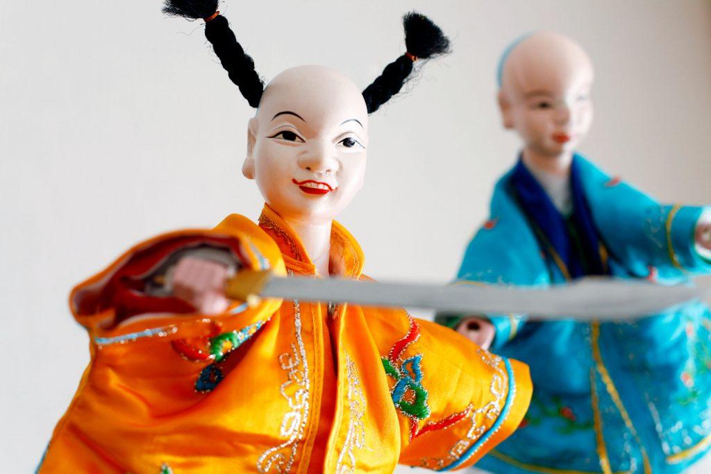 Marionnettes à gaine chinoise