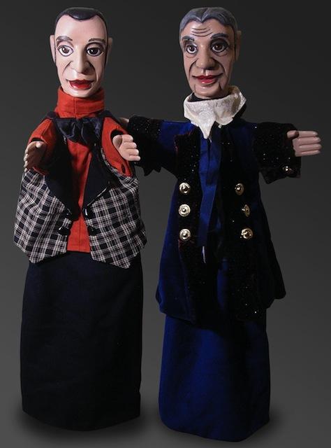 Marionnette à gaine française en bois de tilleul