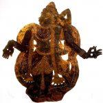 Ombre en cuir de buffle, représentant le prince Rama