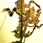 Ombre en peau de buffle, représentant le Roi des Singes Hanuman