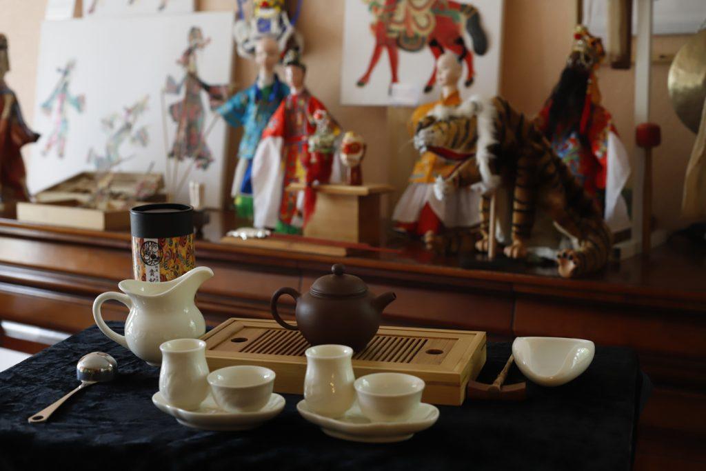 Notre exposition et le service du thé